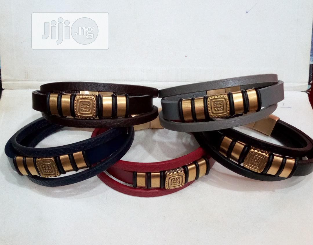 Quality Leather Men Bracelet