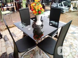 Square Dinning Table With 4 Chairs | Furniture for sale in Lagos State, Ifako-Ijaiye
