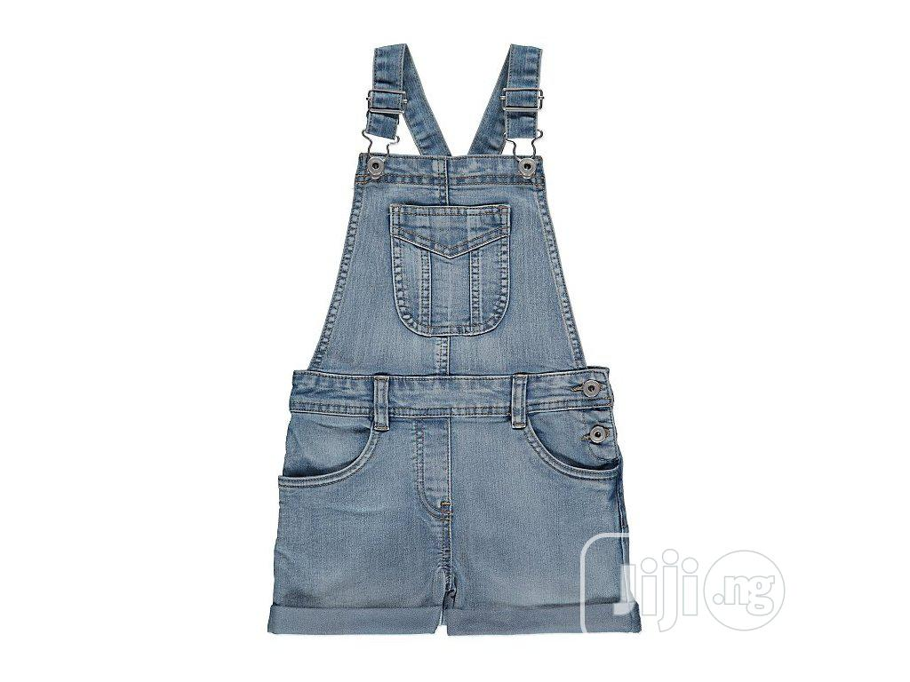 George Medium Wash Denim Short Dungarees