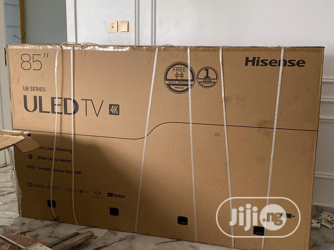 Hisense 85 Inches Uled TV 4K | TV & DVD Equipment for sale in Ojo, Lagos State, Nigeria