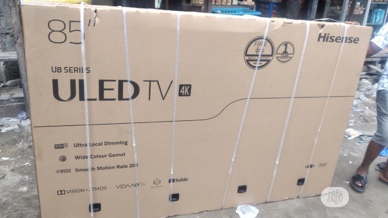 Hisense 85 Inches Uled TV 4K   TV & DVD Equipment for sale in Ojo, Lagos State, Nigeria