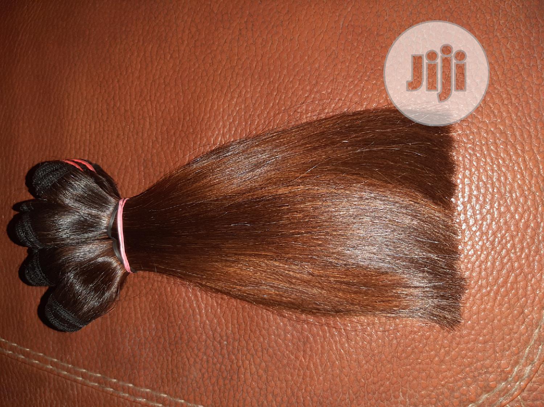 Super Double Drawn Bone Straight Honey Brown | Hair Beauty for sale in Agboyi/Ketu, Lagos State, Nigeria