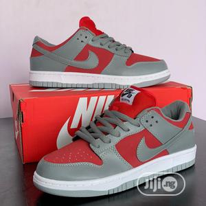 Nike Dunk Low Grey Red Original   Shoes for sale in Lagos State, Surulere