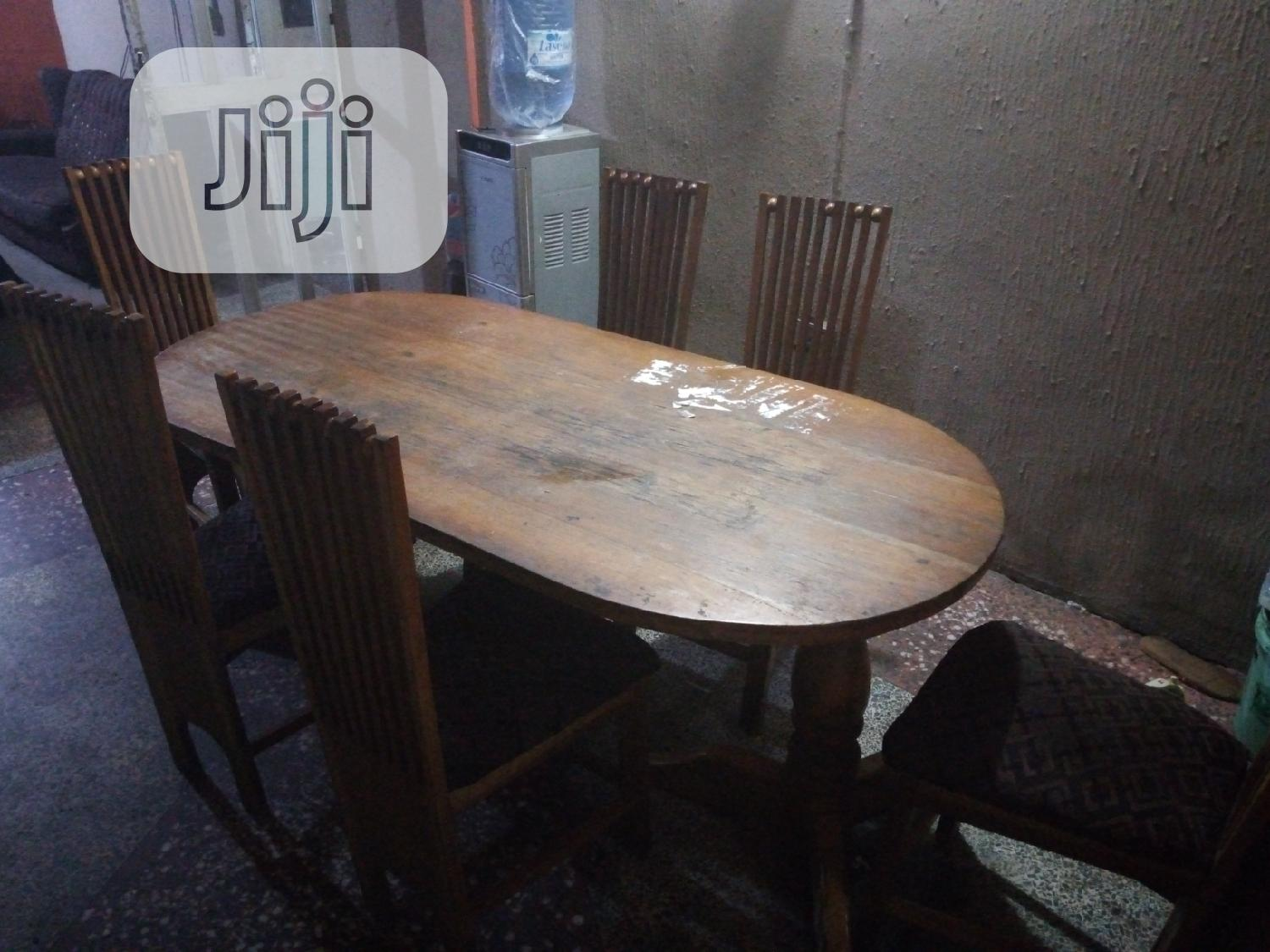 Complete Set of Chairs With Full Dining Table Set | Furniture for sale in Mushin, Lagos State, Nigeria