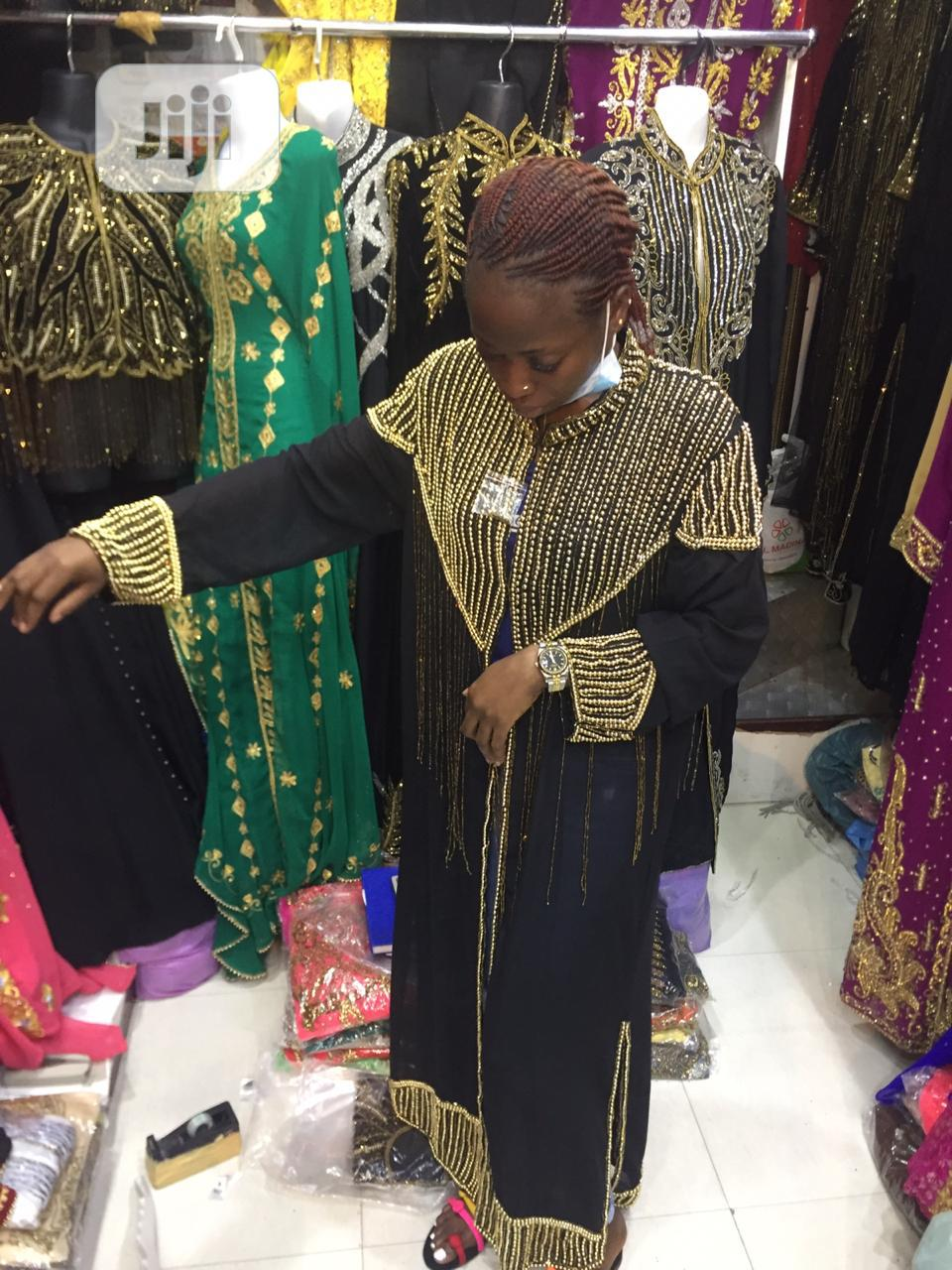 Stoned Abaya Gown Jacket   Clothing for sale in Ikeja, Lagos State, Nigeria