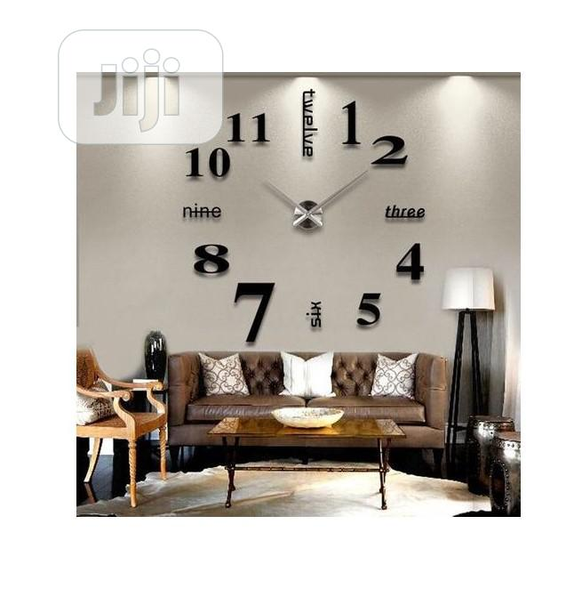 3D DIY Acrylic Mirror Stickers Quartz Modern Wall Clocks