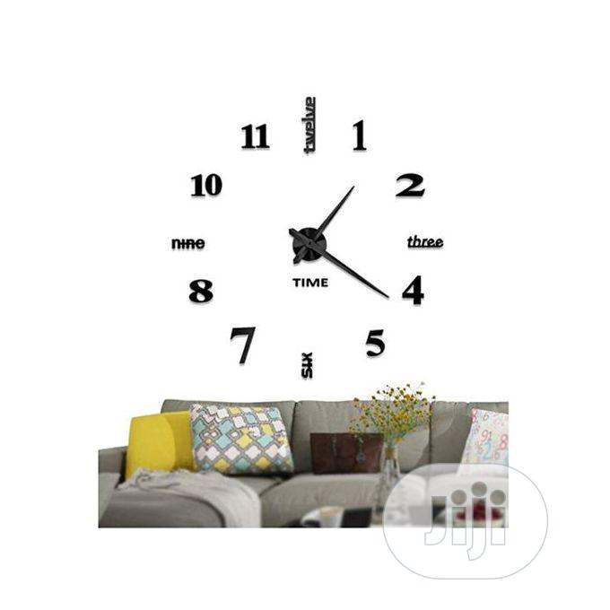 3D DIY Acrylic Mirror Stickers Quartz Modern Wall Clocks | Home Accessories for sale in Lekki, Lagos State, Nigeria