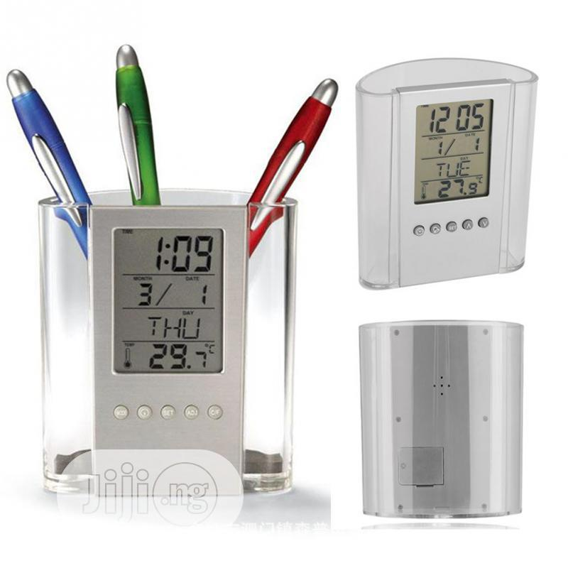 Pen Holder With Digital Clock & Temperature