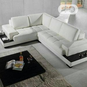 Leather L Shape With Center Table | Furniture for sale in Lagos State, Maryland
