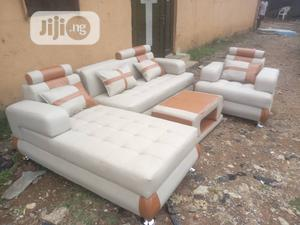 Classic Leather Sofa With Center Table | Furniture for sale in Lagos State, Ikeja
