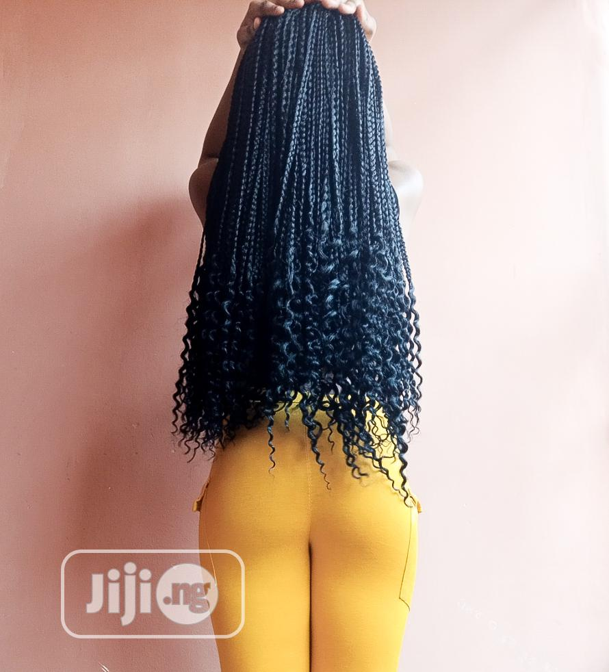 """Crotch Braids Wig 26"""" - Black 