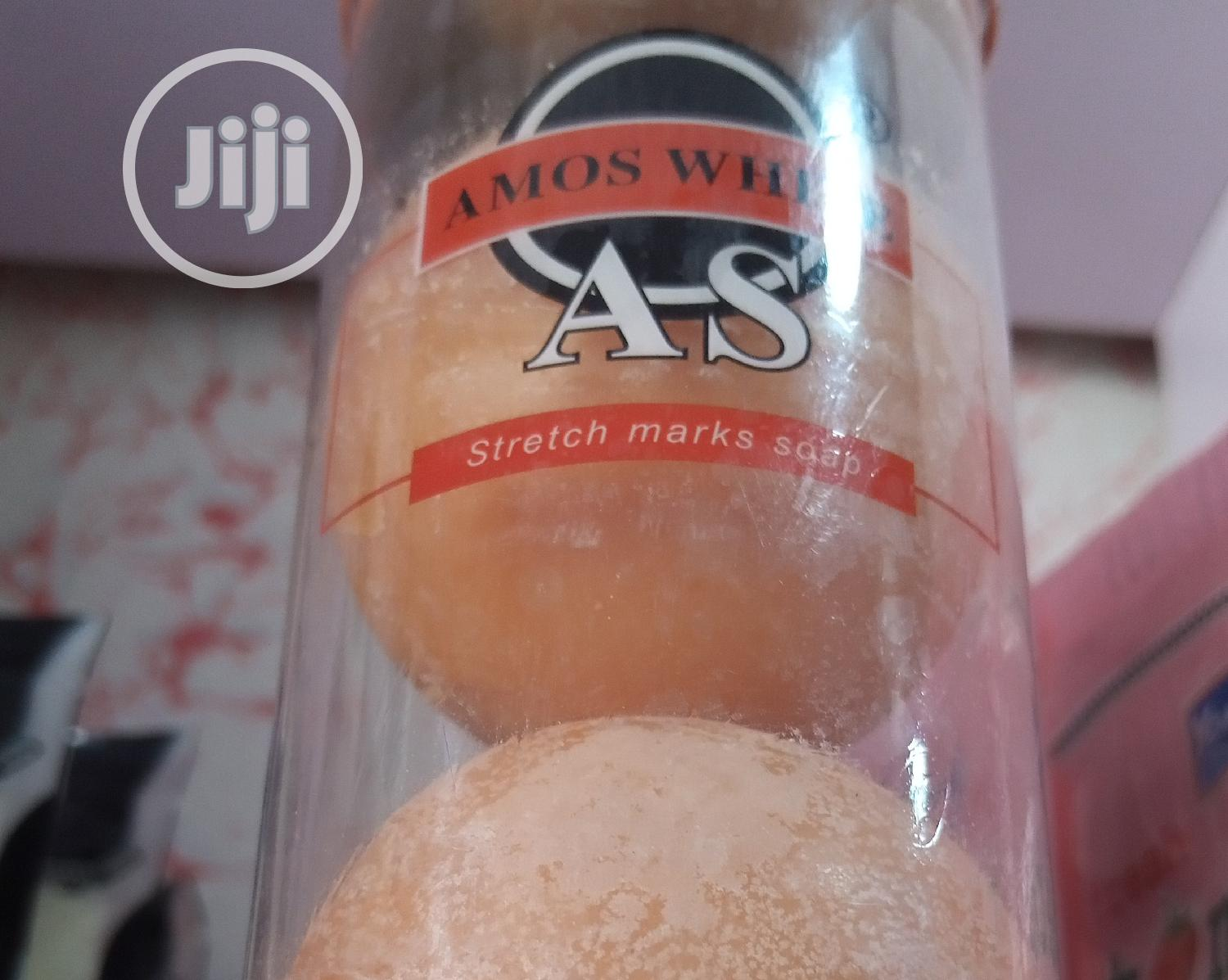 Amos White Anti-stretch Mark Soap | Bath & Body for sale in Ikeja, Lagos State, Nigeria