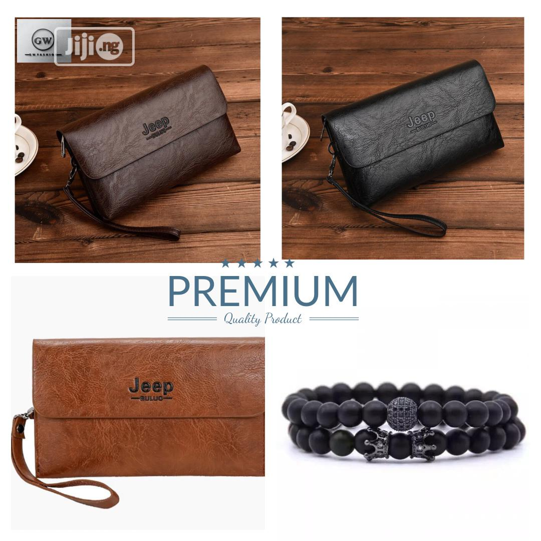 Quality Men's Clutch Bag Wallet + Bracelet | Bags for sale in Ikeja, Lagos State, Nigeria