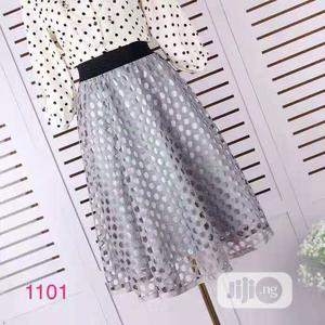 Ladies Midi Grey Lace Skirt   Clothing for sale in Lagos State, Yaba