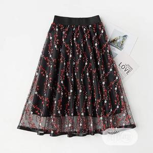 Ladies Floral Red / Black Skirt   Clothing for sale in Lagos State, Yaba
