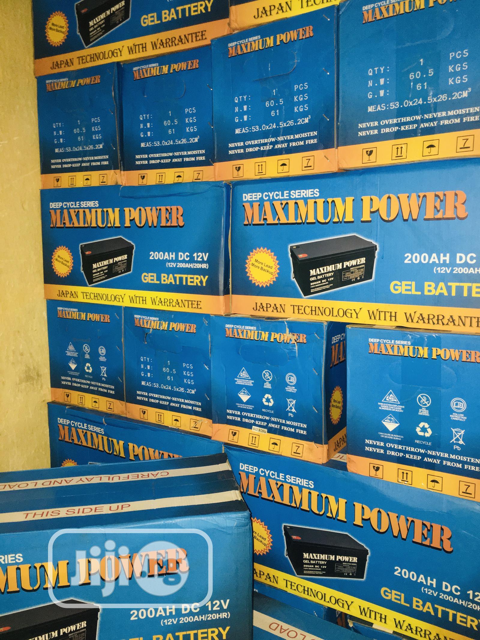 200ah 12v Maximum Power Battery