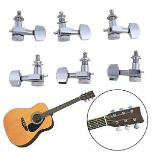 6-piece Metal Guitar String Knob Tuning Pegs Set For Acousti | Musical Instruments & Gear for sale in Lagos State, Ikeja