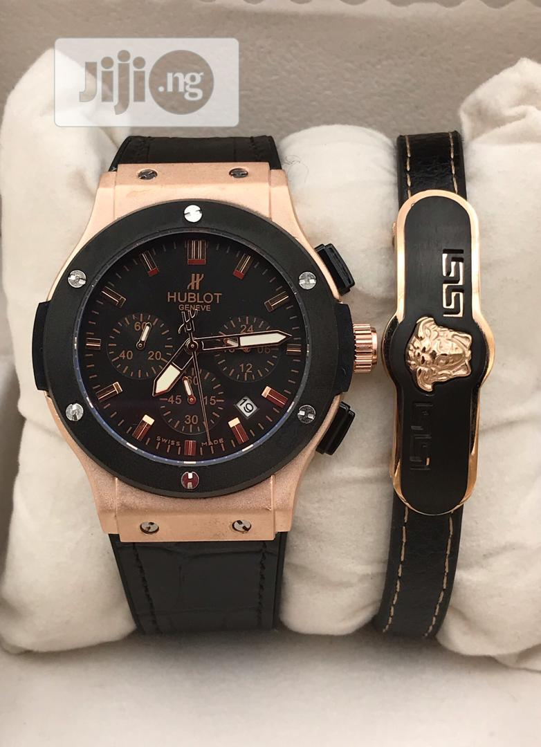 Hublot Watch and Versace Bracelet