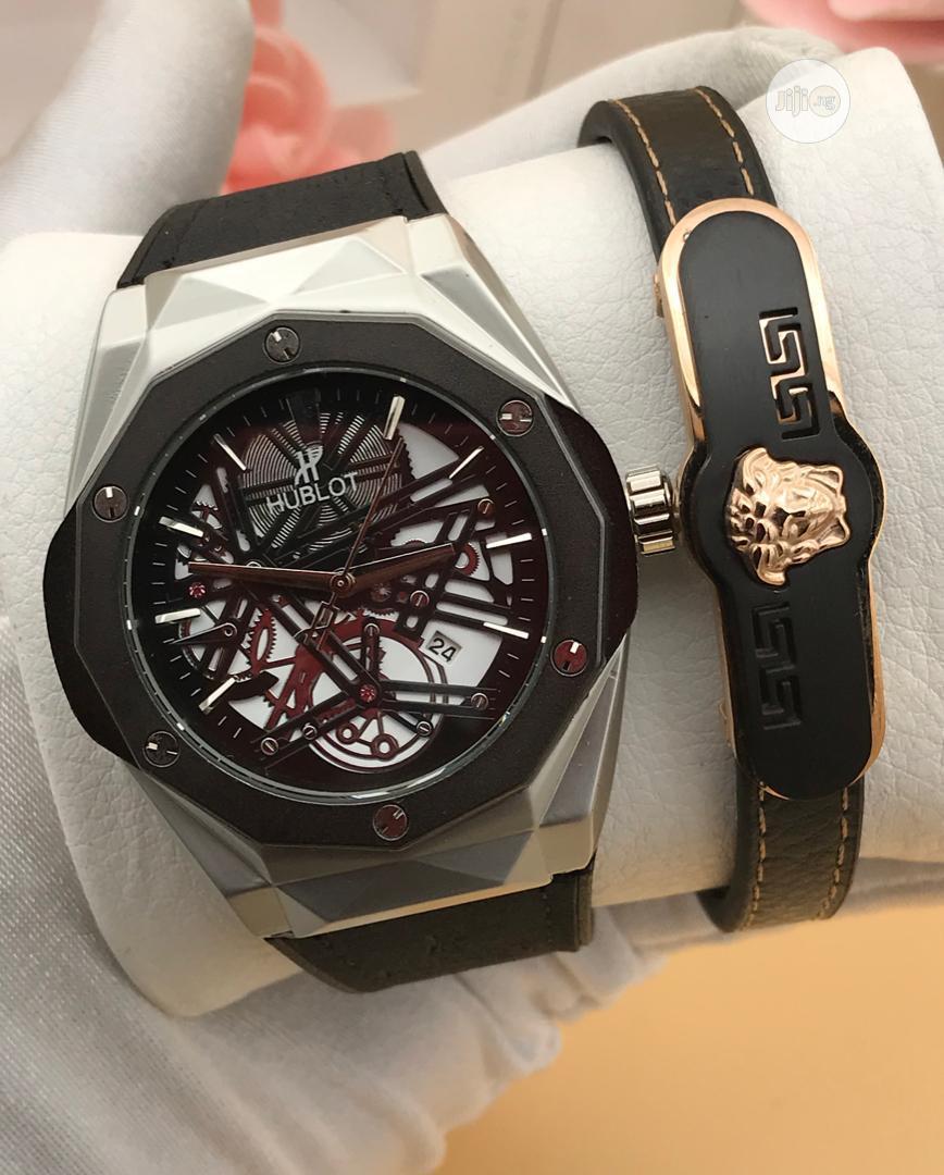 Hublot Watch and Versace Bracelet | Watches for sale in Lagos Island (Eko), Lagos State, Nigeria