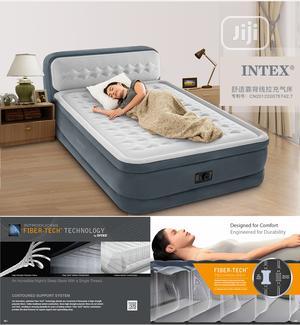 Intex Ultra Dura Beam Airbed Built In Pump With Headboard   Furniture for sale in Lagos State, Ikorodu