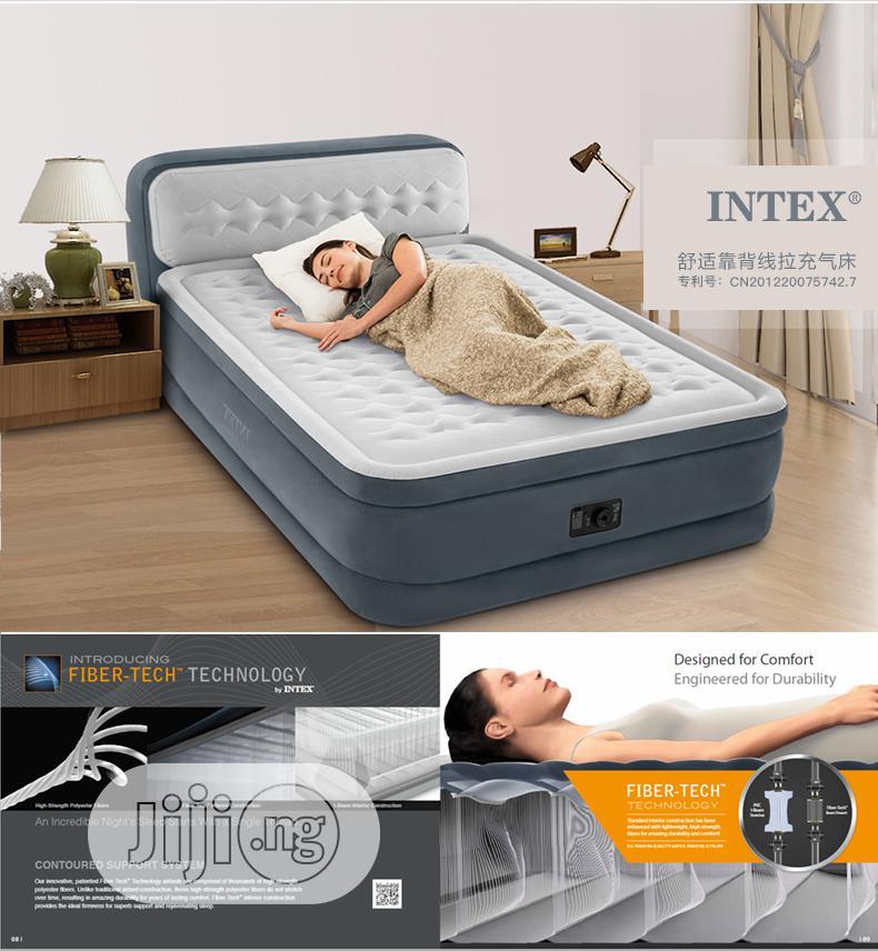 Intex Ultra Dura Beam Airbed Built In Pump With Headboard