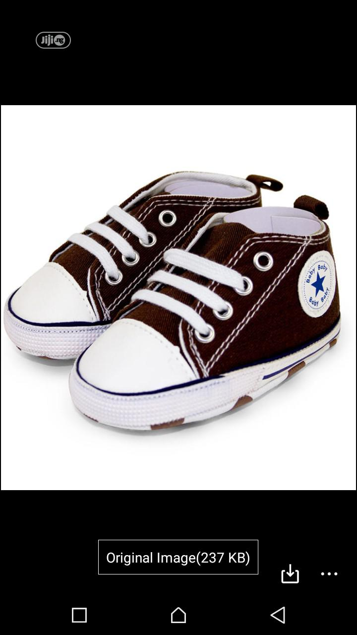 Infant Lace Up Unisex Sneakers Canvas Toddler Baby