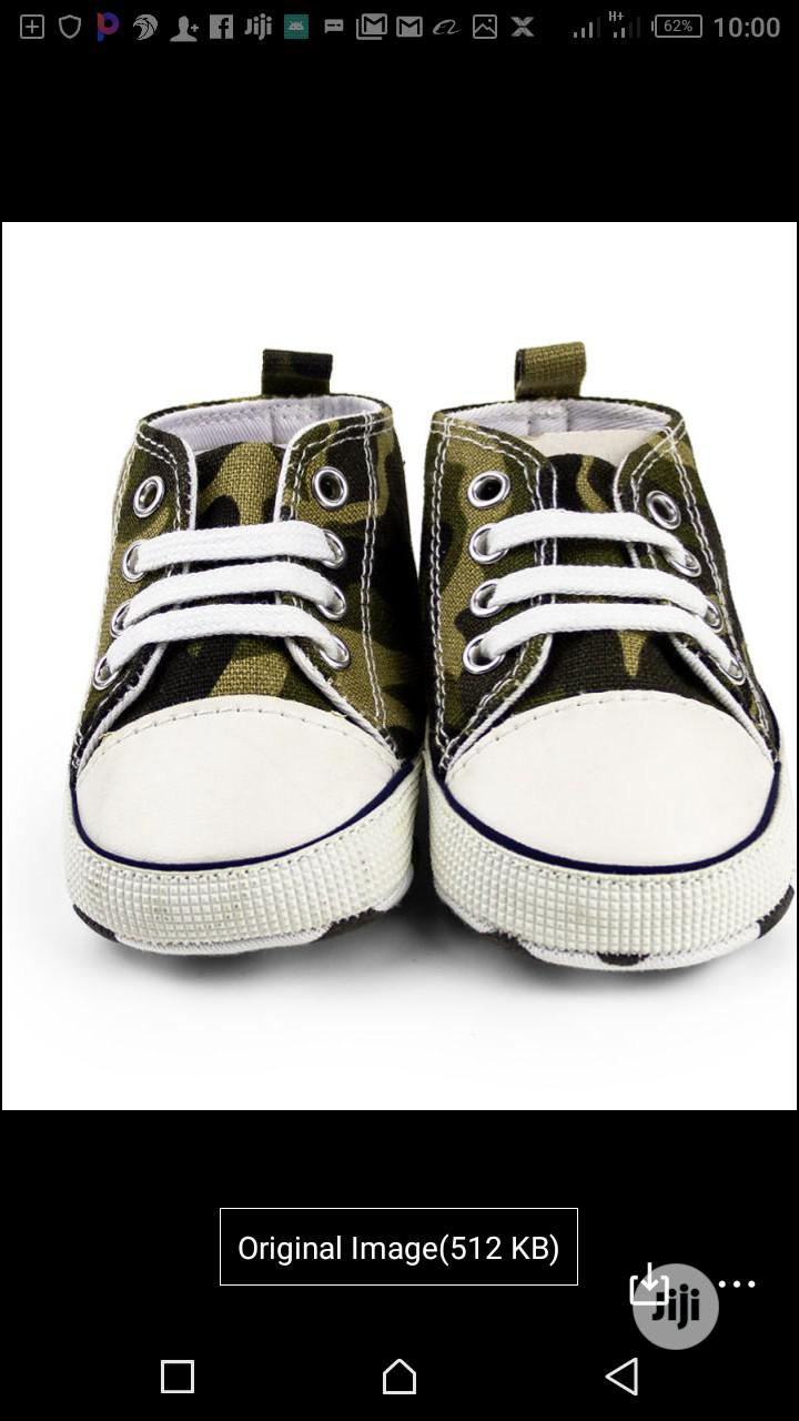 Infant Lace Up Unisex Sneakers Canvas Toddler Baby | Children's Shoes for sale in Victoria Island, Lagos State, Nigeria