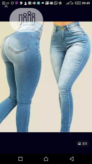 High Waist Jeans Vintage 2020 Light Blue Women's Casual Pant | Clothing for sale in Lagos State, Victoria Island