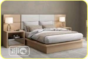 Beautiful Bed Frame With 2 Bed Side   Furniture for sale in Lagos State, Ikeja