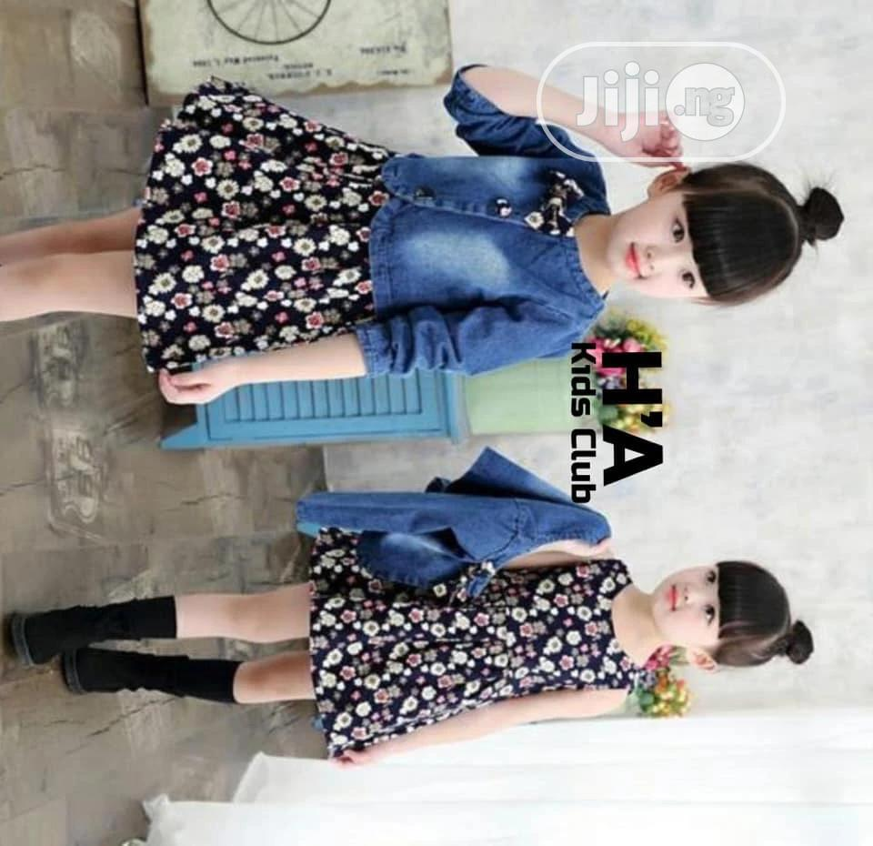 Female Kids Gown and Jean Jacket