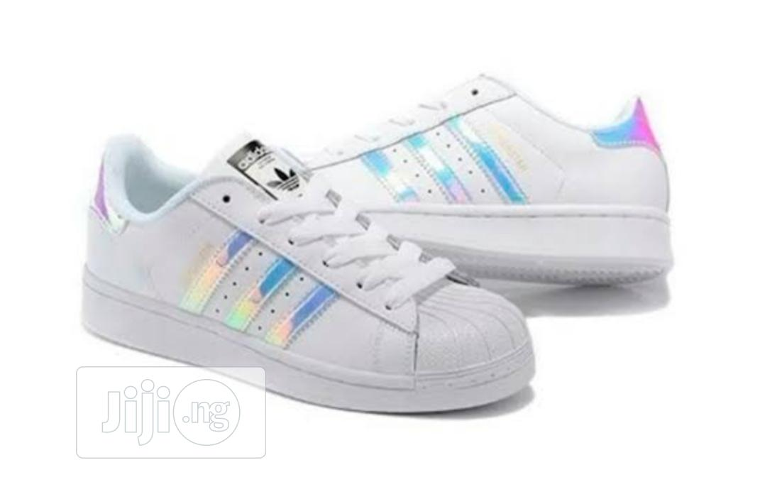 Adidas Superstar J White Hologram