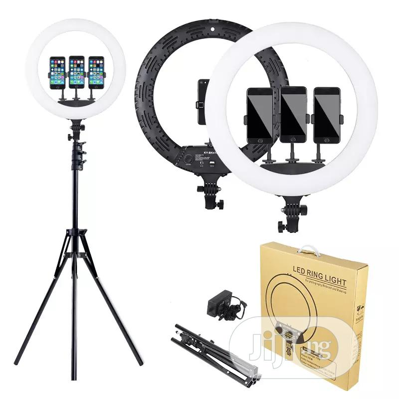 18 Inch LED Ring Light With Tripod Stand Dimmable