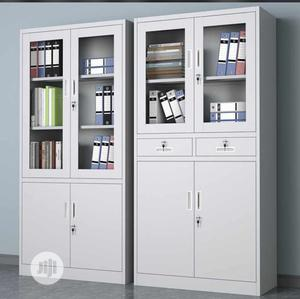 Half Glass Metal Shelf | Furniture for sale in Lagos State, Amuwo-Odofin