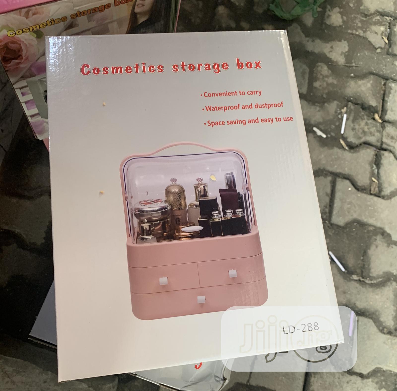 Pink Cosmetics Storage Box