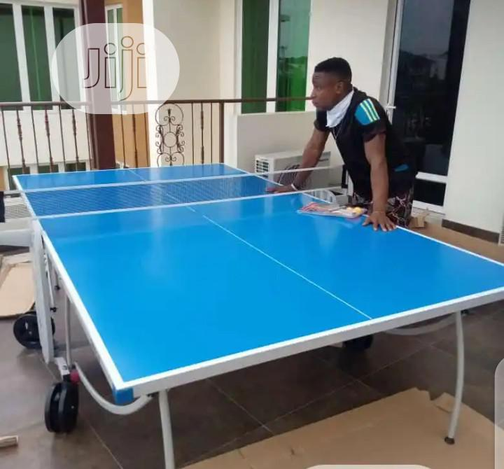 Outdoor American Standard Aluminum Table Tennis Board.