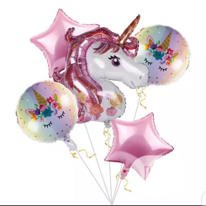 Unicorn Foil 5 In 1 Birthday Balloon