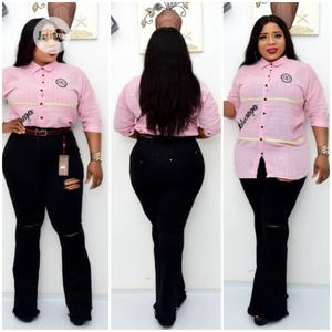 New Female Turkey Quality Pink Shirt With Palazzo Jeans | Clothing for sale in Lagos State, Lagos Island (Eko)