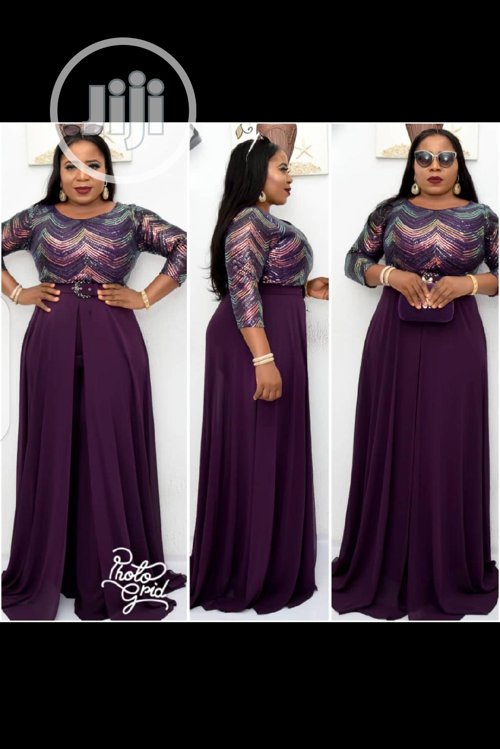 New Female Turkey Quality Purple Jumpsuit With Flair   Clothing for sale in Lagos Island (Eko), Lagos State, Nigeria