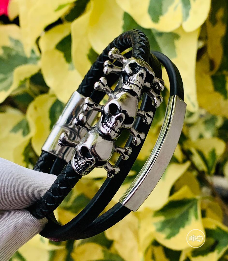 Bracelet Leather/Chain For Men's