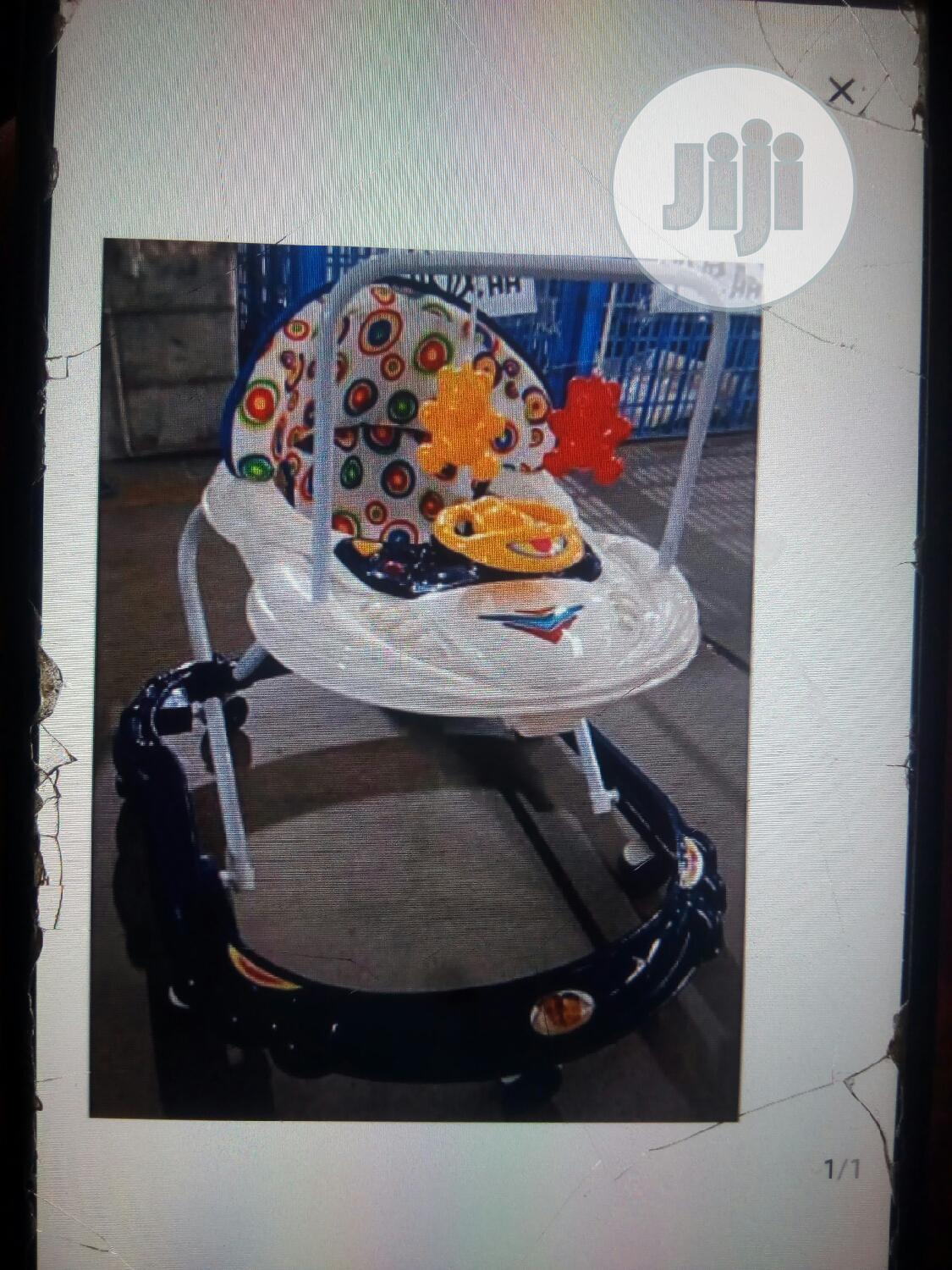 Moveable Foldable Baby Walker With Music Hanging Toys