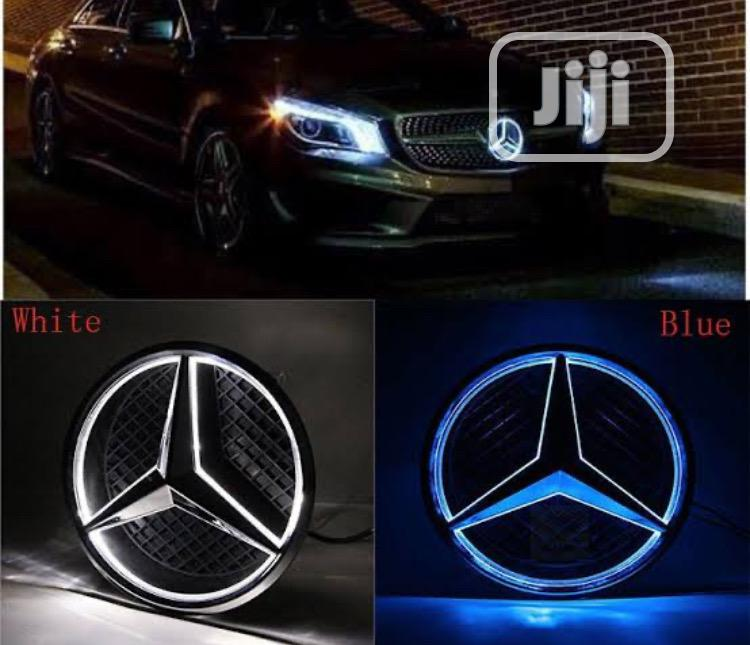 Reflective Light Front Grill Logo for MERCEDES BENZ