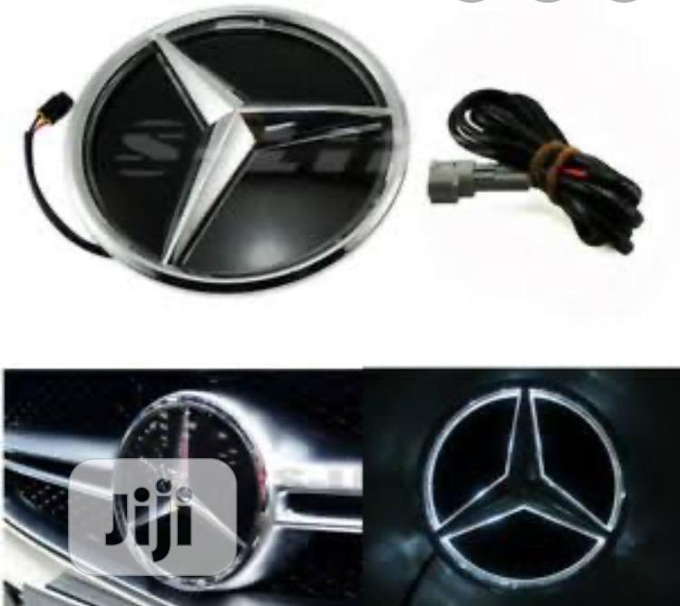 Reflective Light Front Grill Logo for MERCEDES BENZ | Vehicle Parts & Accessories for sale in Surulere, Lagos State, Nigeria