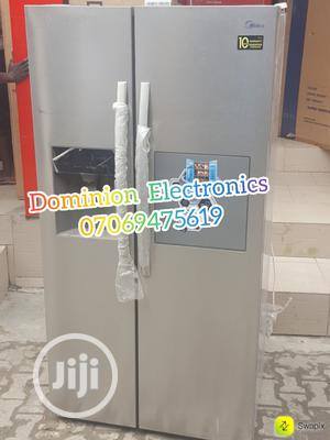 New<Midea Side by Side Fridge 510L Bar With Dispenser 2yrs | Kitchen Appliances for sale in Lagos State, Ojo
