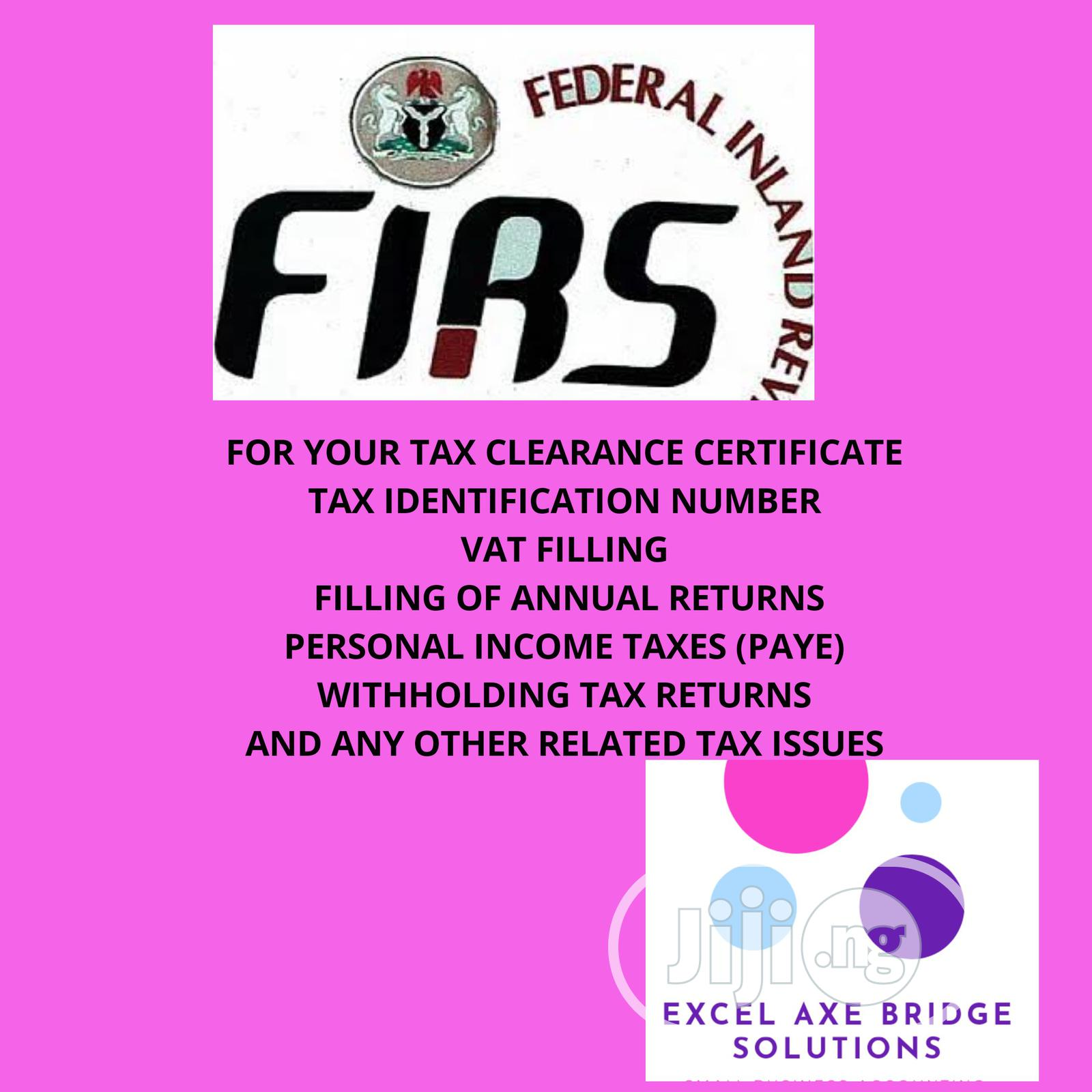 Tax Clearance Certificate, Annual Returns, Tin Number, PAYE