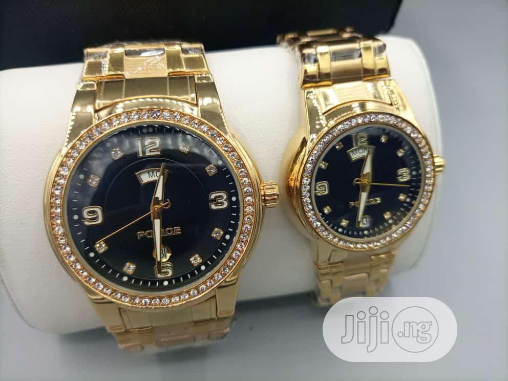 Police Gold Wristwatch For Set