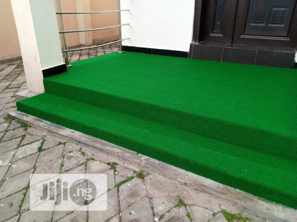 Steep Clean Artificial Grass At Moewe Estate