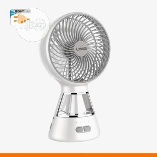 6 Inches Rechargeable Table Fan With Led Light