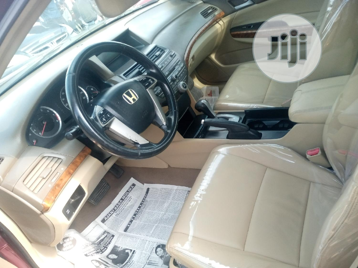 Honda Accord 2008 2.0 Comfort Automatic Red | Cars for sale in Apapa, Lagos State, Nigeria