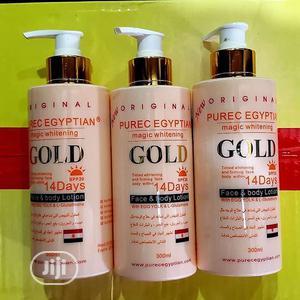 Purec Egyptian Magic Whitening Gold Lotion 300ml | Skin Care for sale in Lagos State, Amuwo-Odofin
