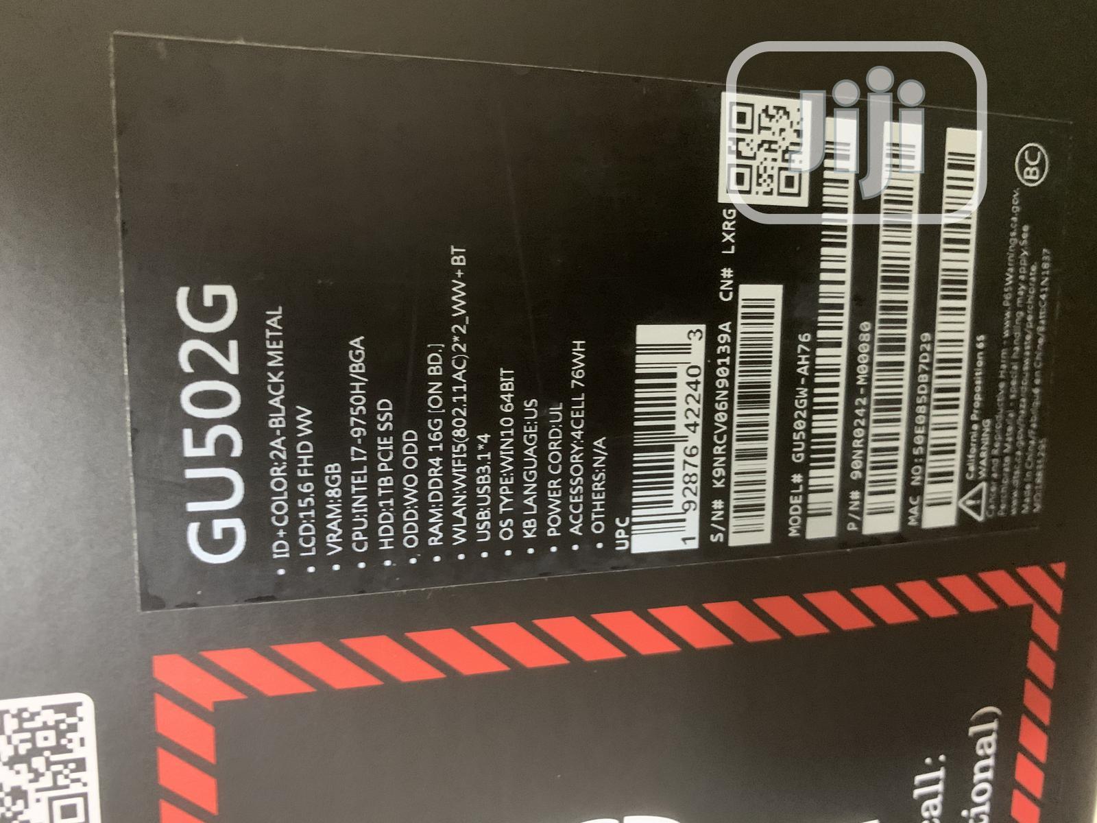 New Laptop Asus ROG Zephyrus M15 GU502LU 16GB Intel Core i7 SSD 1T | Laptops & Computers for sale in Ikeja, Lagos State, Nigeria